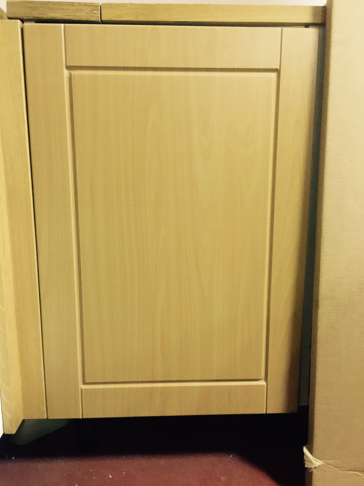1c Hiline Corner Pack White Kitchen Cabinets With Light Oak Shaker Vynal Wrap Doors With Blum