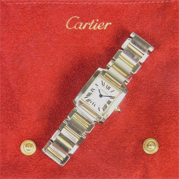 Cartier Tank Française bicolour lady's watch. - Image 3