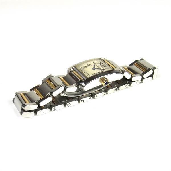 Cartier Tank Française bicolour lady's watch. - Image 2