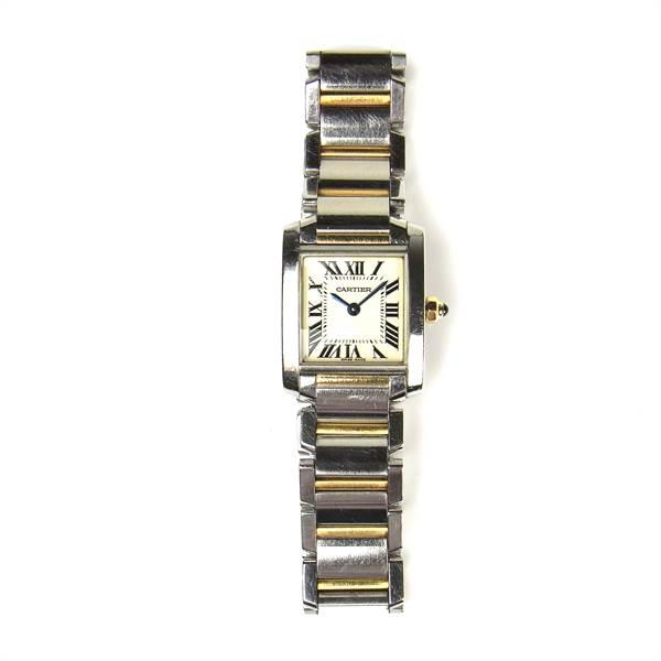 Cartier Tank Française bicolour lady's watch. - Image 1