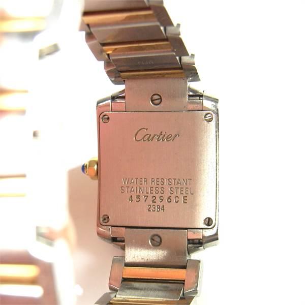 Cartier Tank Française bicolour lady's watch. - Image 4