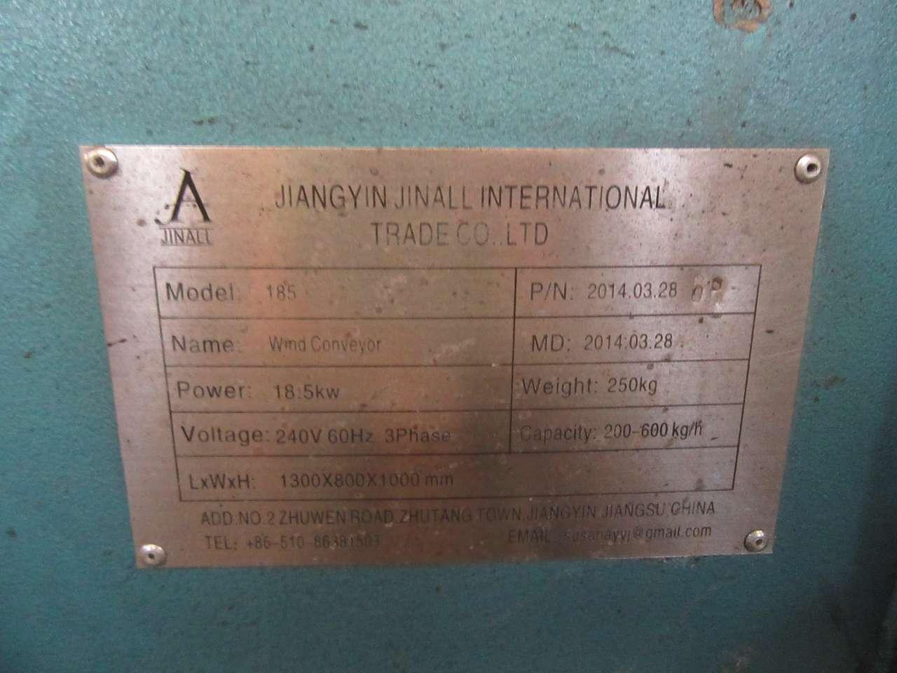 Lot 21 - 2014 Jiangyin Jinall International Trade Co. 185 Wind Conveyor