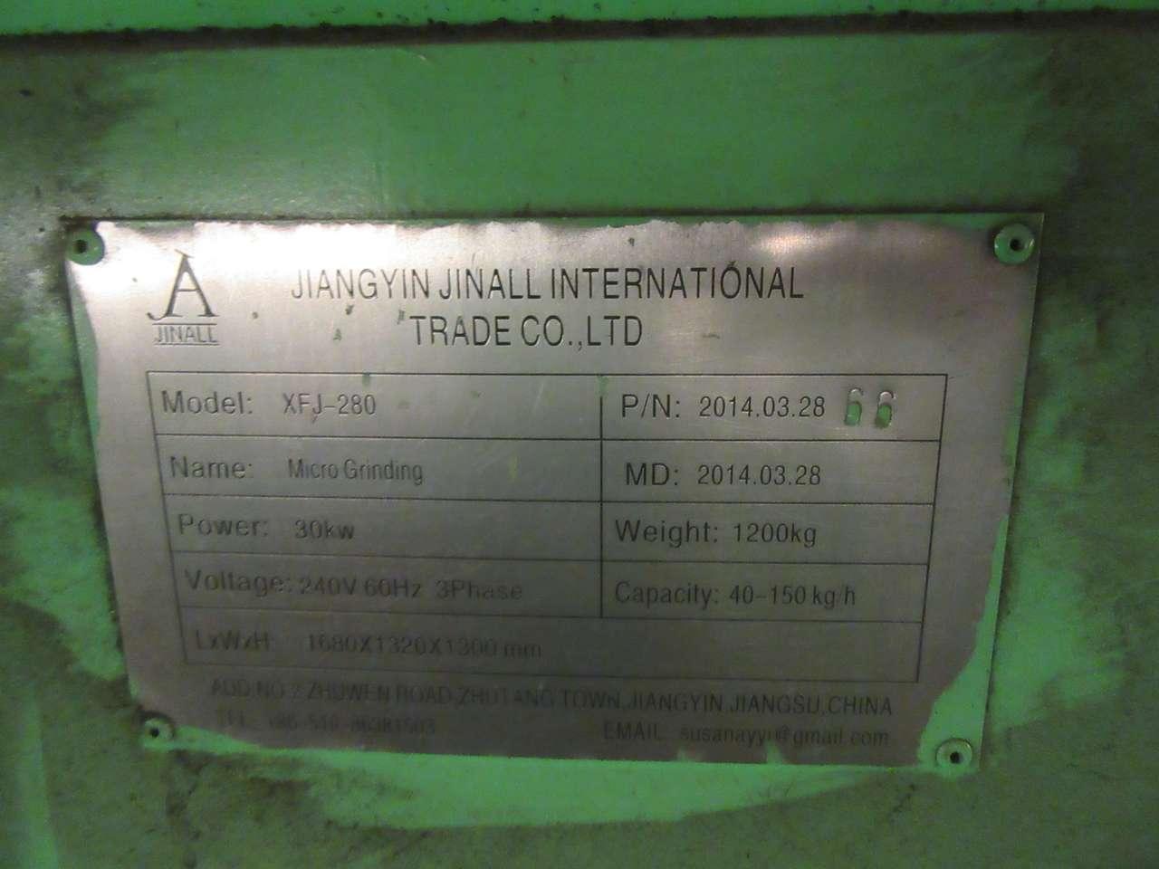 Lot 15 - 2014 Jiangyin Jinall International Trade Co. XFJ-280 Micro Grinder