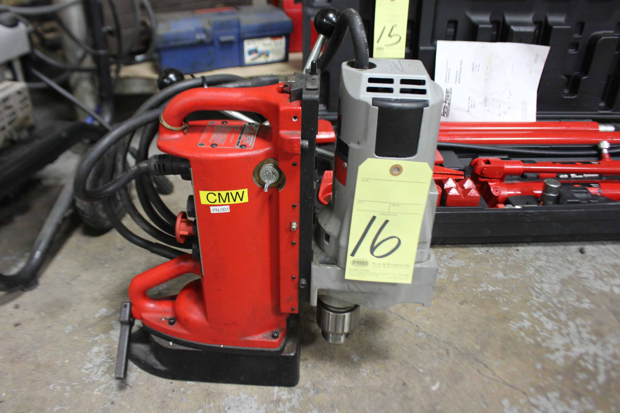 Lot 16 - ELECTROMAGNETIC DRILL PRESS, MILWAUKEE, S/N 38B603040041