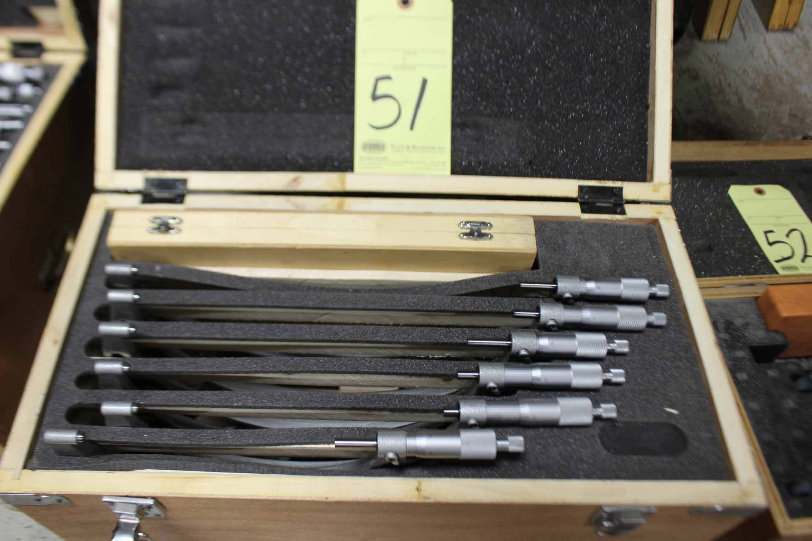"Lot 51 - O.D. MICROMETER SET, 6"" to 12"""