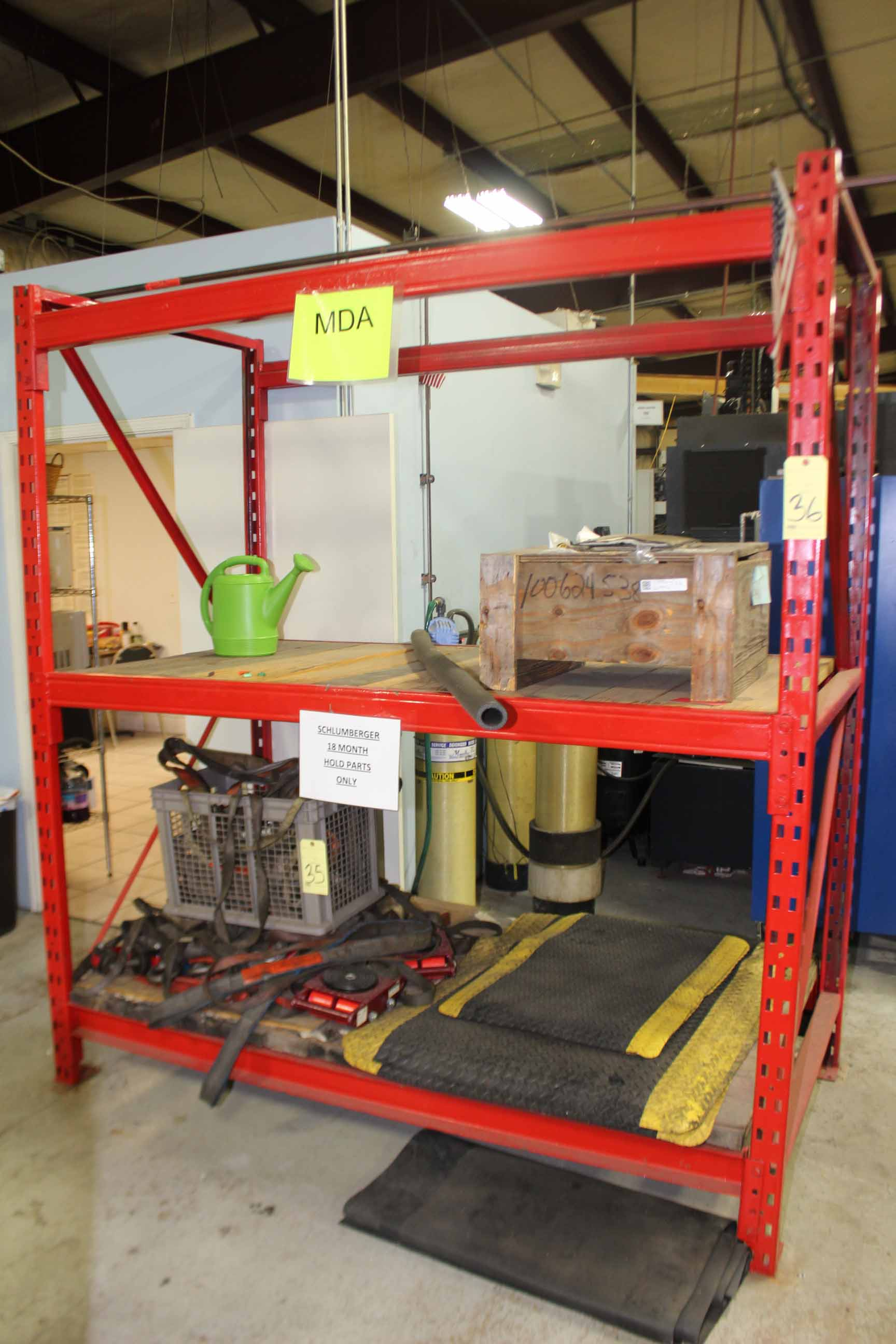 Lot 36 - PALLET RACK SECTION, 8' x 6' x 3 1/2', w/wood inserts