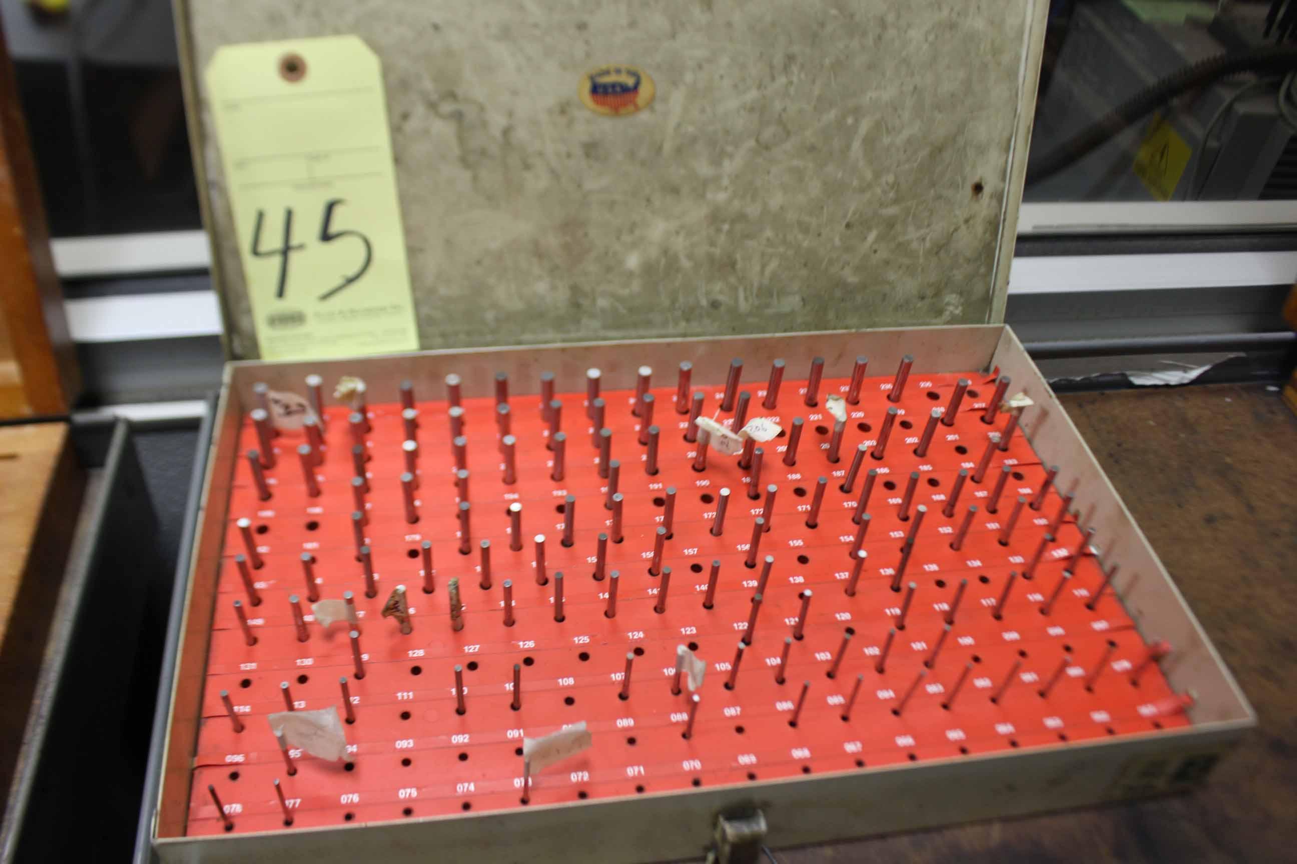 """Lot 45 - PIN GAUGE SET, .251"""" to .500"""""""