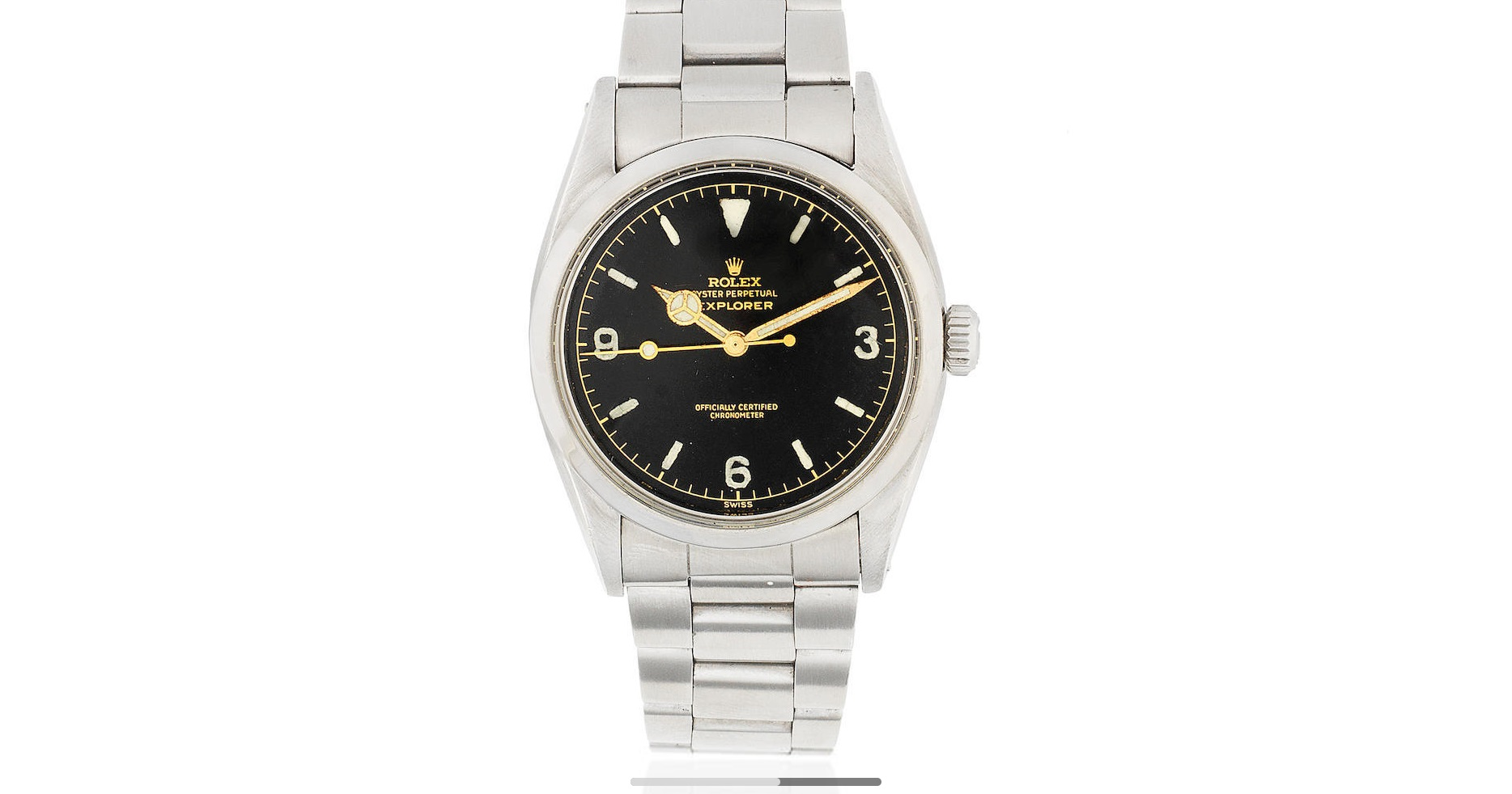 Lot 12 - Rolex. A stainless steel automatic bracelet watch