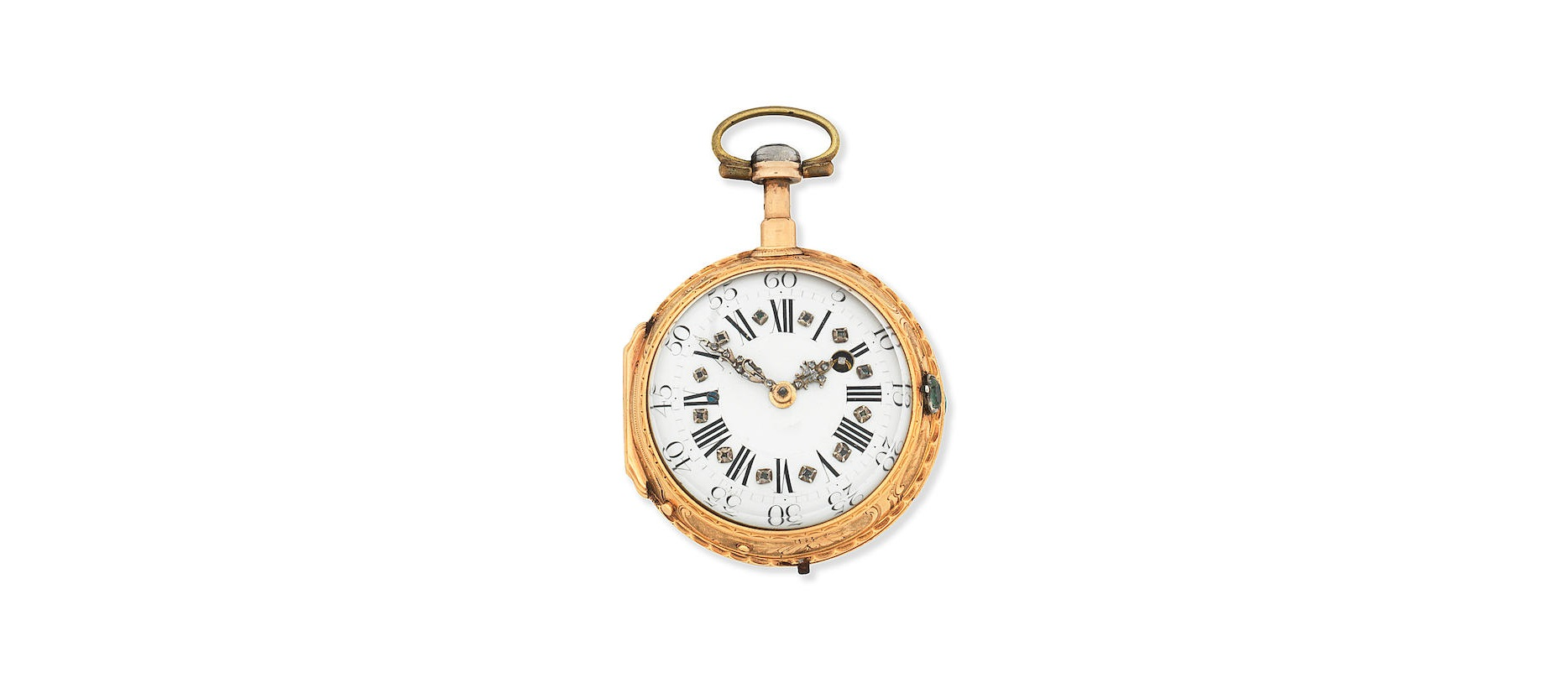 Lot 3 - A gilt metal key wind open face quarter repeating pocket watch