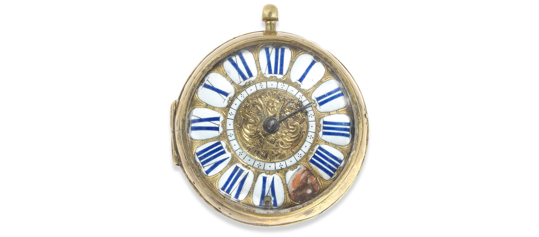 Lot 4 - A large key wind open face oignon pocket watch