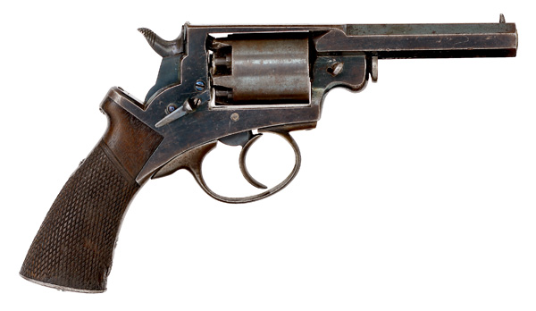 "Mass Arms Percussion Pocket Revolver  .31 caliber, 3.25"" octagonal barrel with ramrod mounted on the"