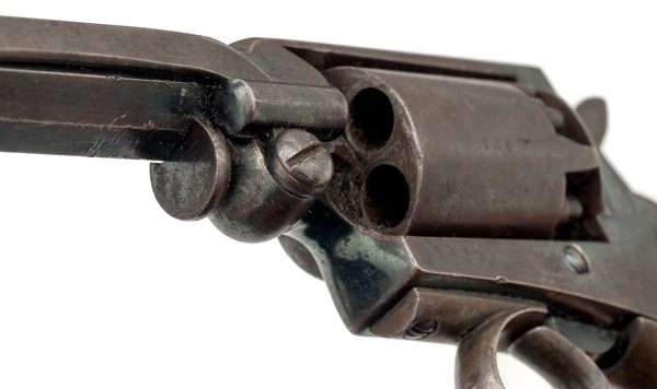 "Mass Arms Percussion Pocket Revolver  .31 caliber, 3.25"" octagonal barrel with ramrod mounted on the - Image 5 of 8"