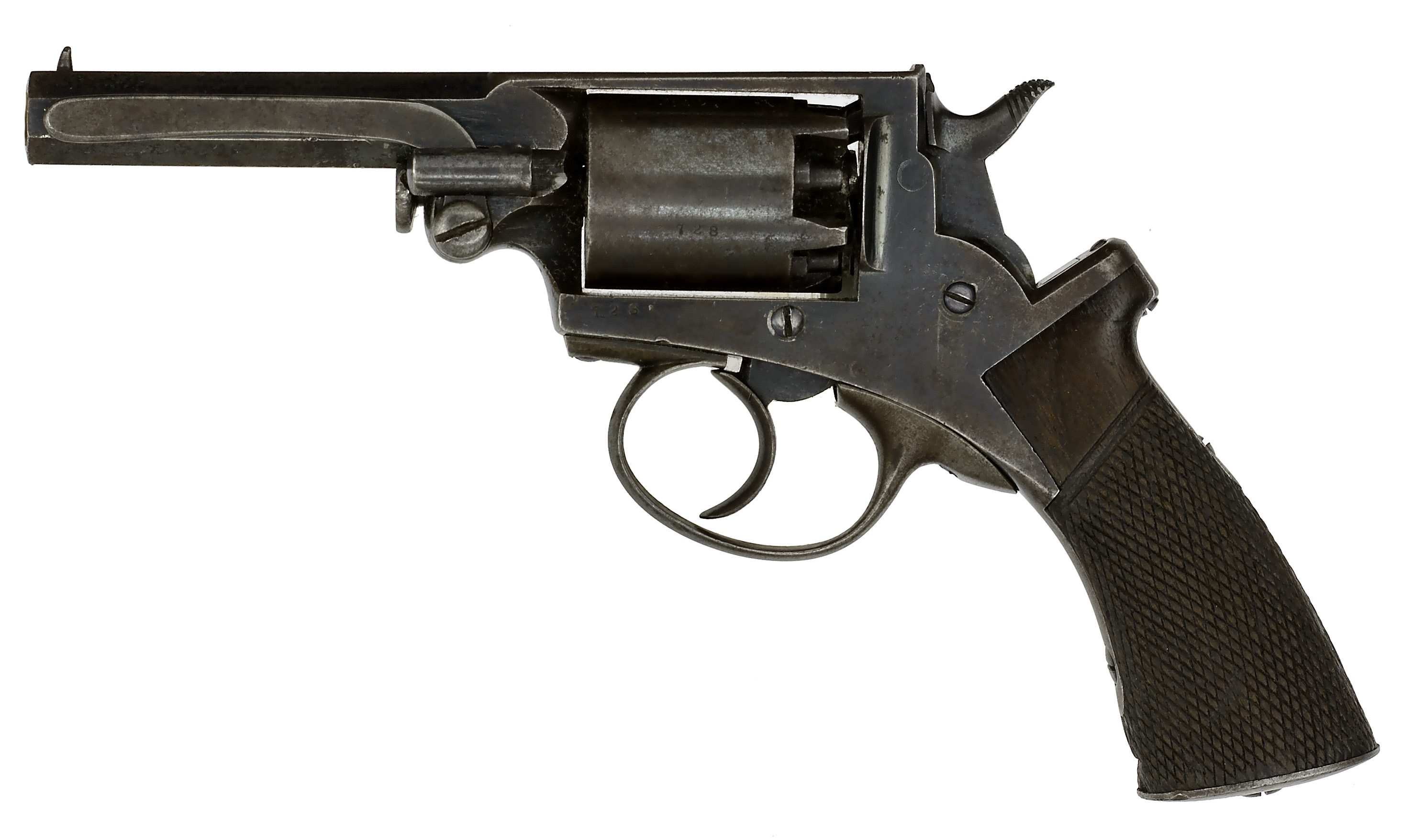"Mass Arms Percussion Pocket Revolver  .31 caliber, 3.25"" octagonal barrel with ramrod mounted on the - Image 2 of 8"
