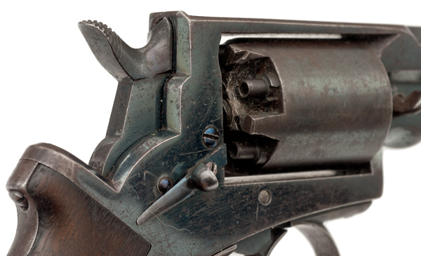 "Mass Arms Percussion Pocket Revolver  .31 caliber, 3.25"" octagonal barrel with ramrod mounted on the - Image 7 of 8"
