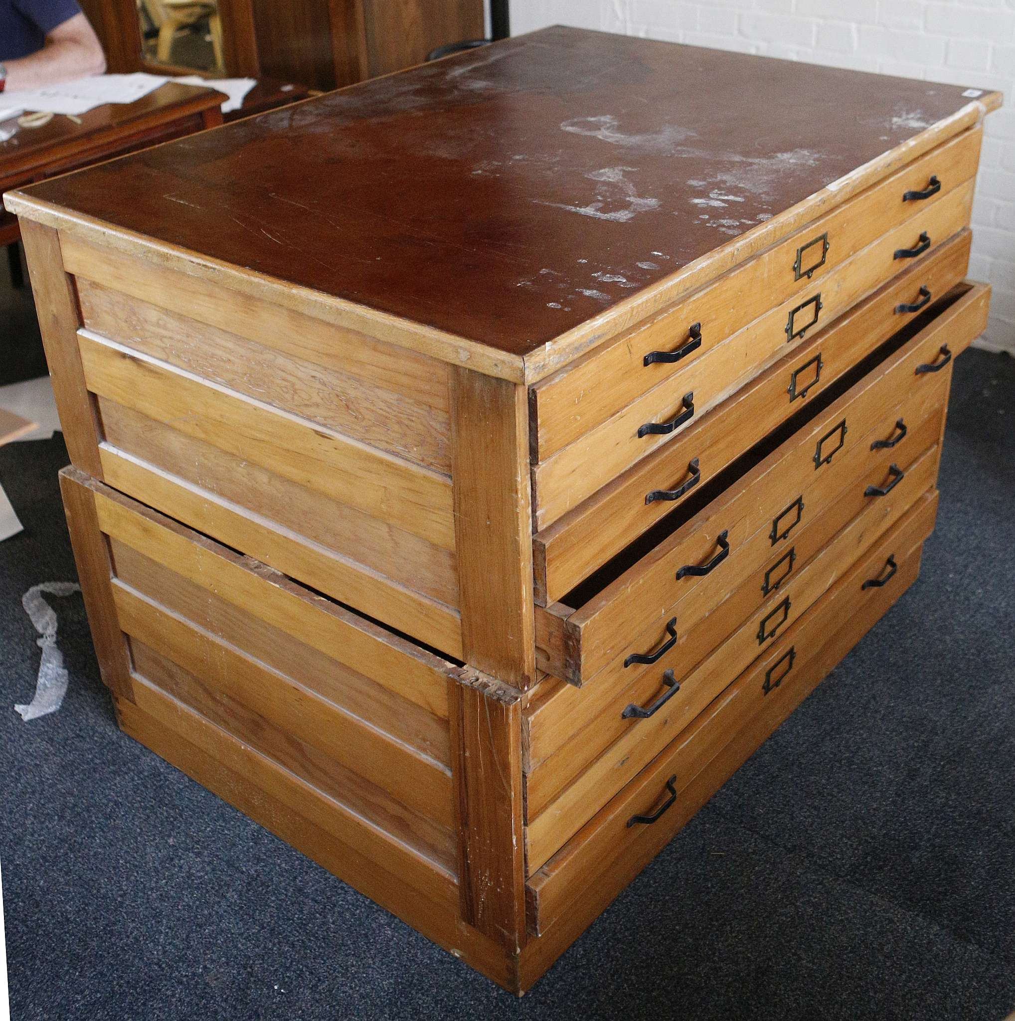 drawer p chest benedict currey map company drawers