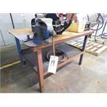 Steel Table w/ Vise, 5'L x 4'W x 3'T