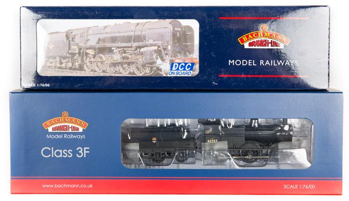 Lot 55 - 2 Bachmann OO gauge locomotives. BR class 3F 0-6-0 tender locomotive, 43257 (31-626A). In black
