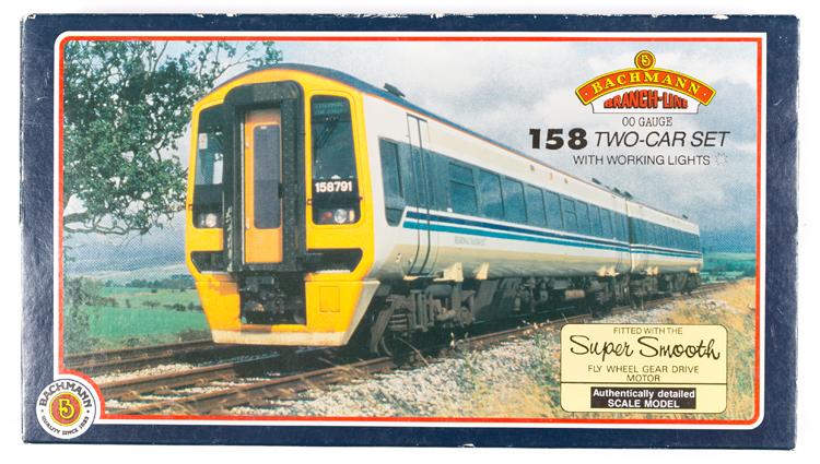 Lot 58 - Bachmann OO gauge DMU train pack. Regional Railways class 158 Diesel Multiple Unit two-car set.