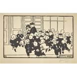 VALLOTTON, FÉLIXLausanne 1865 - 1925 Neuilly-sur-SeinePetits anges.Holzschnitt,im Stock mgr. u.l.,