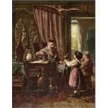 RITZ, RAPHAELBrig 1829 - 1894 SionAlterthümer?.Öl auf Leinwand,sig. u. dat. 1886 u.l., verso a.