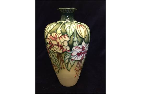Moorcroft Fuschia Vase Height 154 Mm