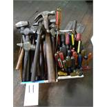 LOT: Assorted Hammers & Screw Drivers