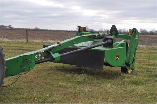 2005 9 5' John Deere 530 MoCo discbine, flail conditioner, 540 PTO