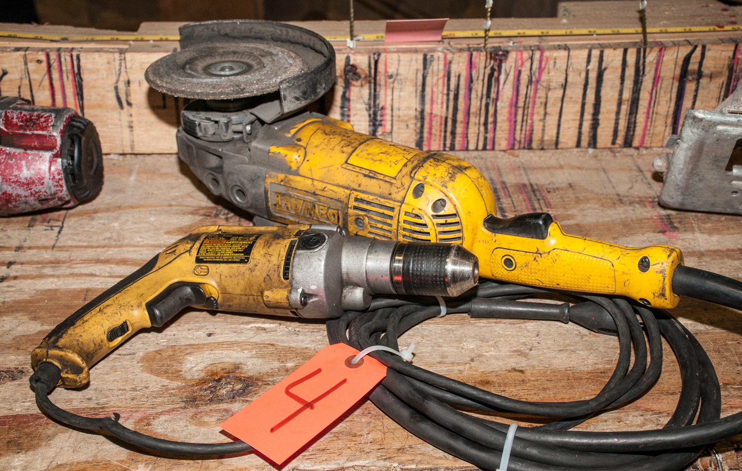 "DeWalt Mdl. W236 1/2"" Electric VSR Drill & 7"" DeWalt Angle Grinder"