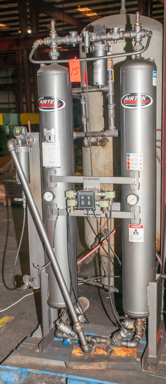 AirTEK Air Dryer Mdl. BV105, s/n 081200008, Heatless Dessicant Dryer, Cap 105 SCFM, 115v