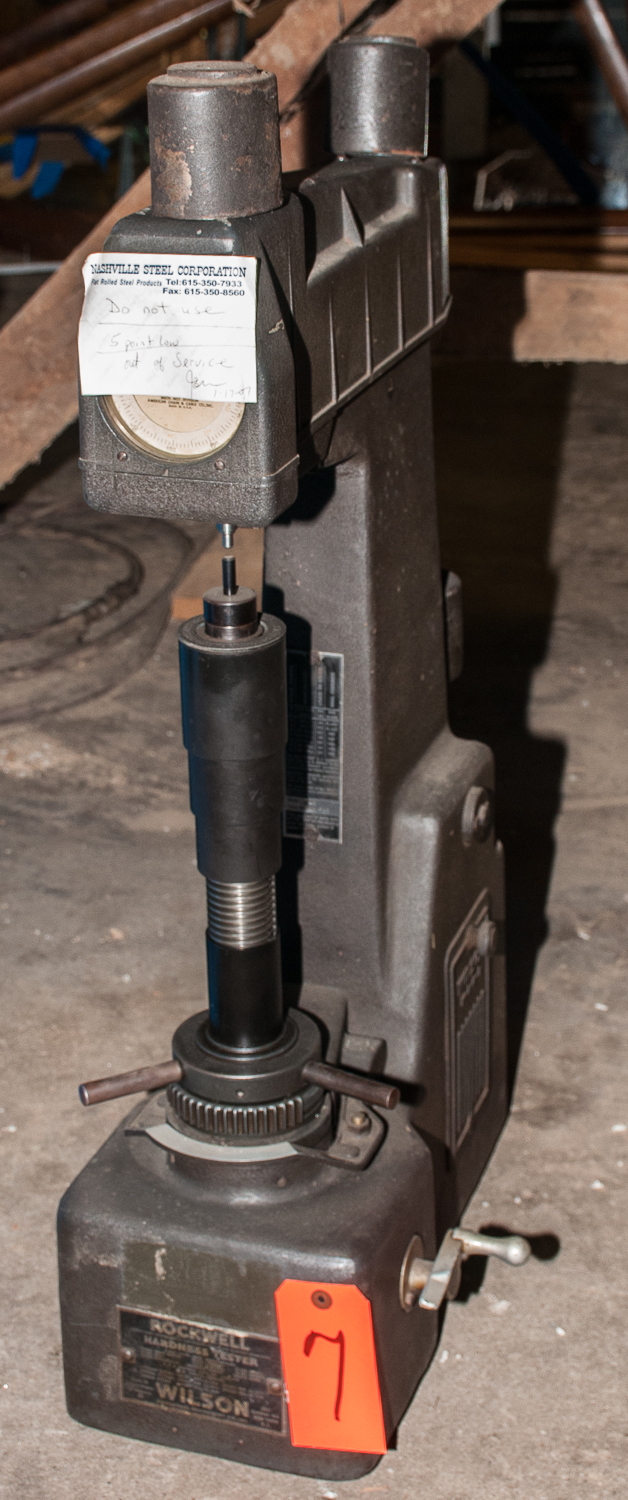 """Wilson/Rockwell Hardness Tester Series Mdl. 4JR , s/n 4JR 737, Note on Unit """"5 Points Low Removed"""
