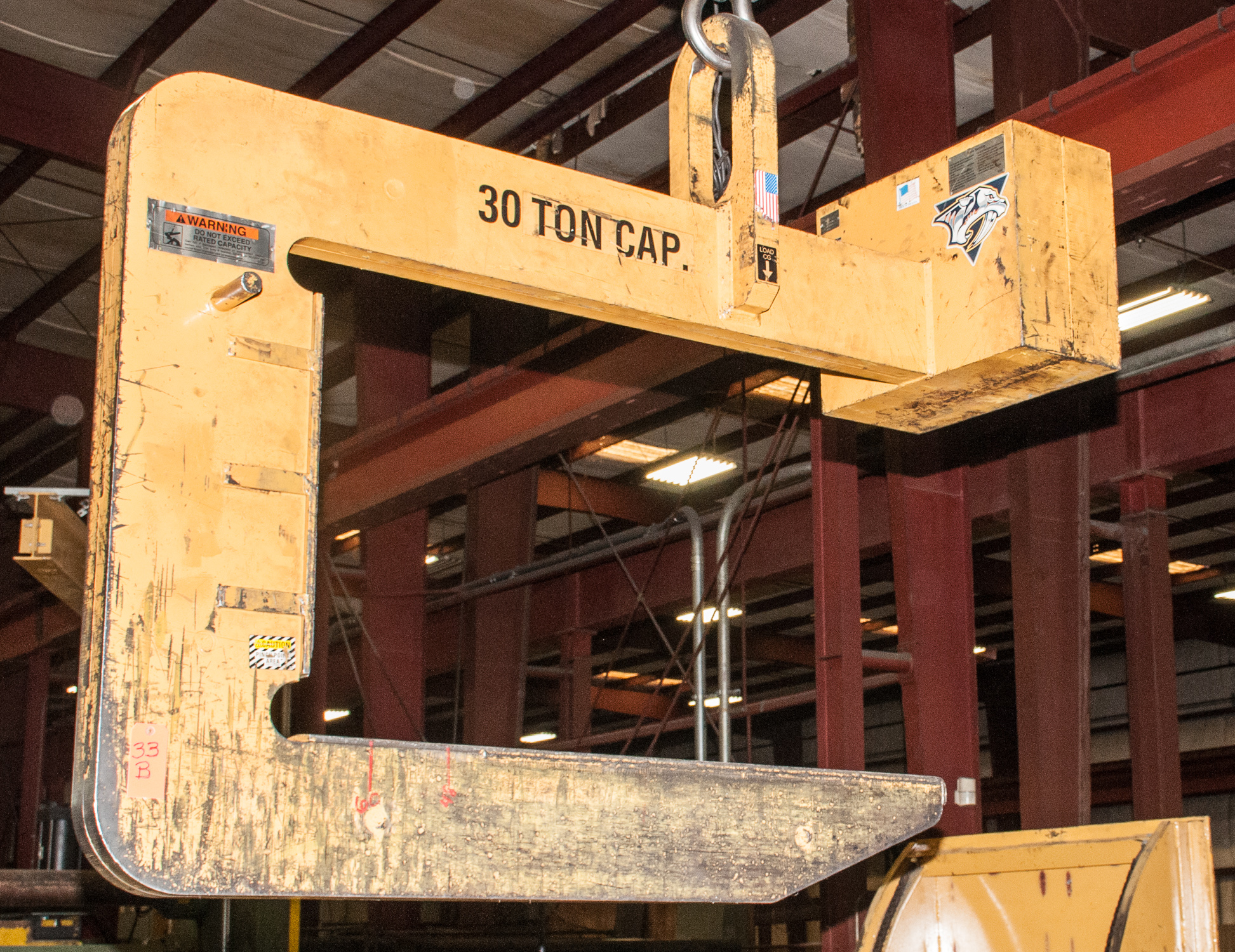 "Crane ""C"" Hook 30 Ton Cap s/n 07-82706 Late Delivery weight 4050 lbs. Late Delivery"