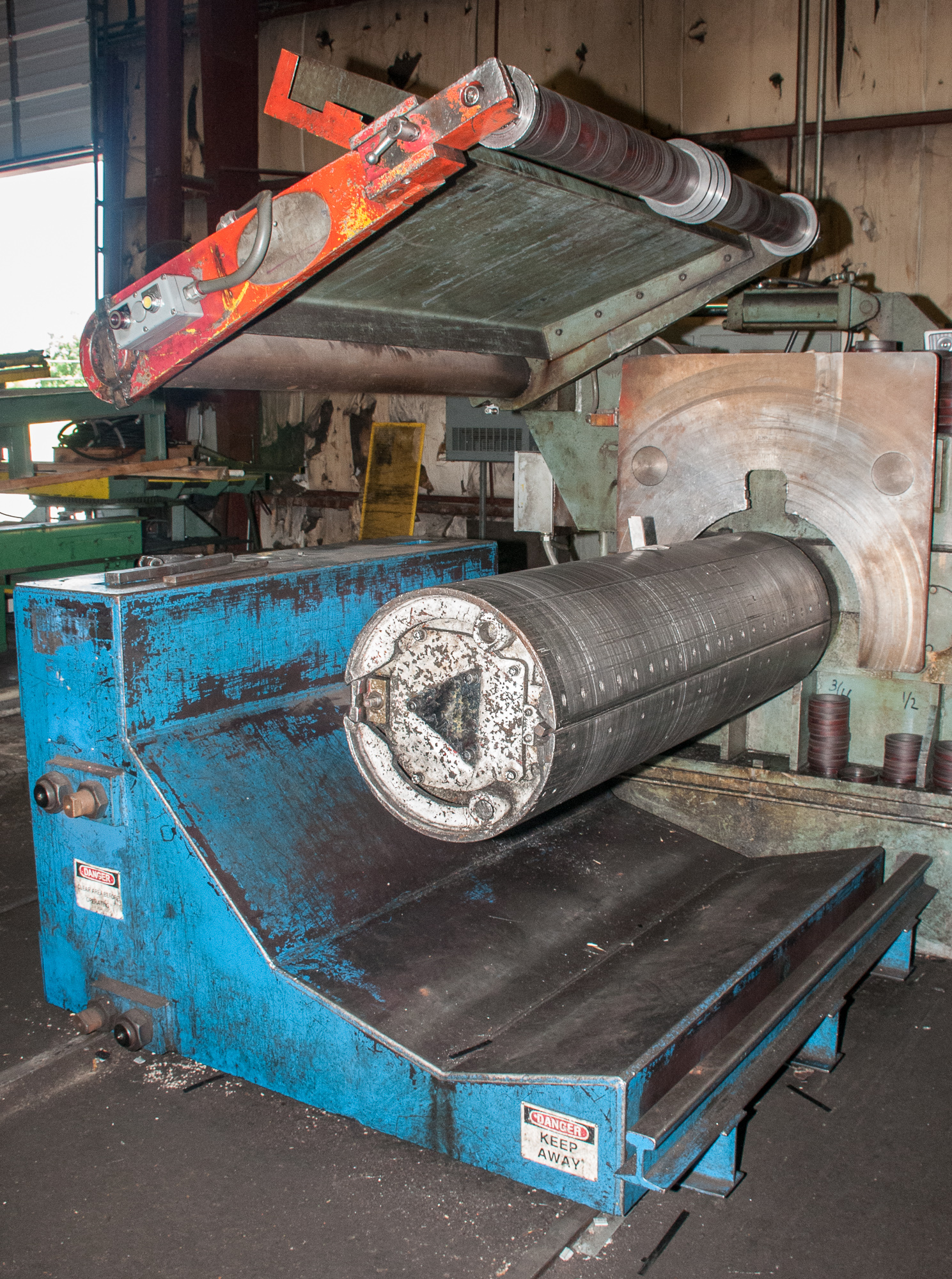 """60"""" x .125"""" 40,000lb. Yoder Slitting Line, New Controls 2019, Consisting of Coil Cart, Yoder Uncoile - Image 9 of 27"""