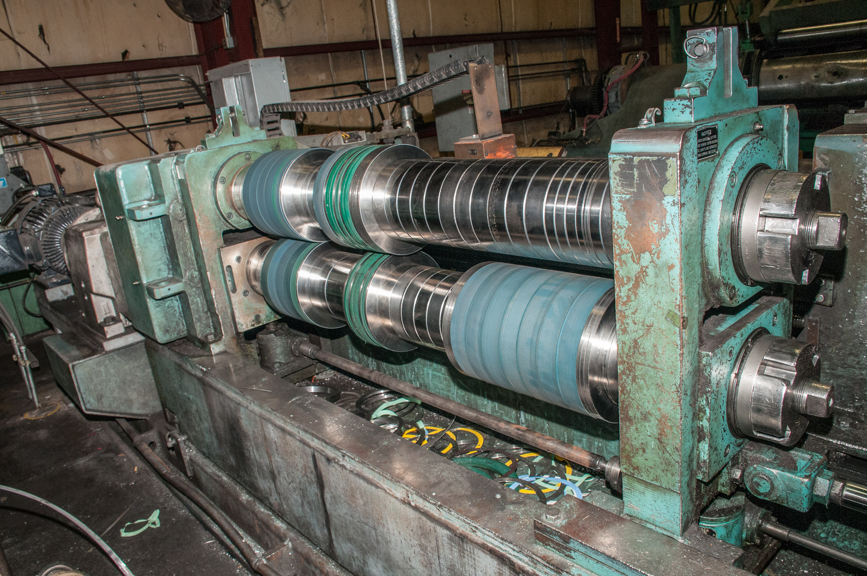 """60"""" x .125"""" 40,000lb. Yoder Slitting Line, New Controls 2019, Consisting of Coil Cart, Yoder Uncoile - Image 5 of 27"""