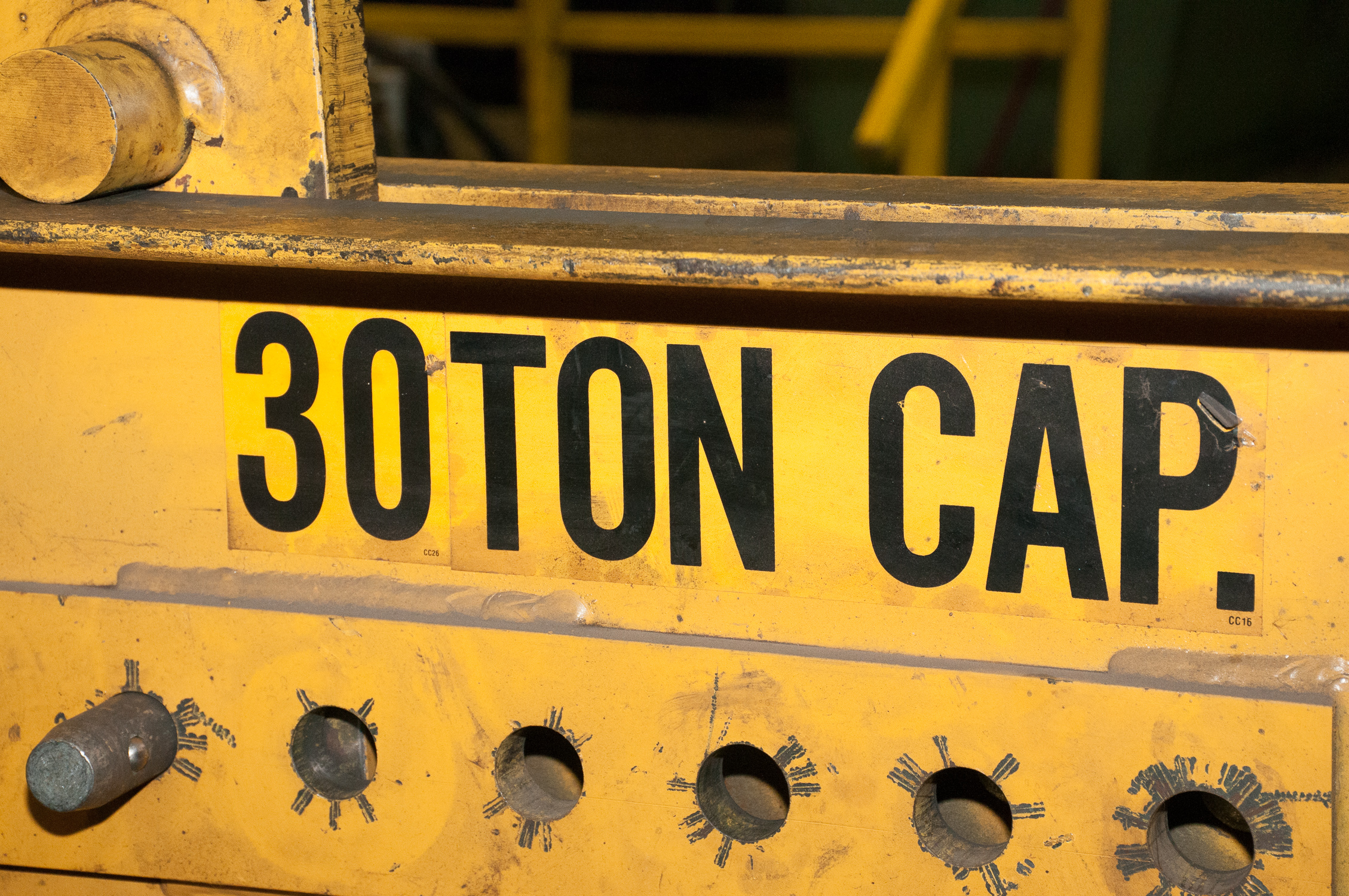 "Caldwell Co 30 Ton Spreader Bar adjustable 24""-72"" For Crane - Image 4 of 4"
