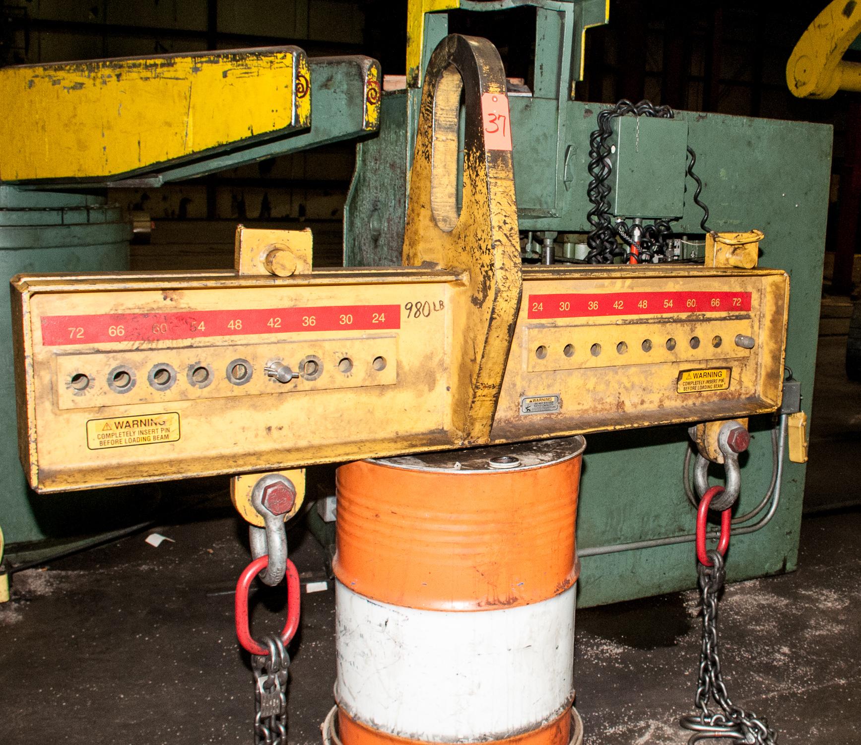 """Caldwell Co 30 Ton Spreader Bar adjustable 24""""-72"""" For Crane"""