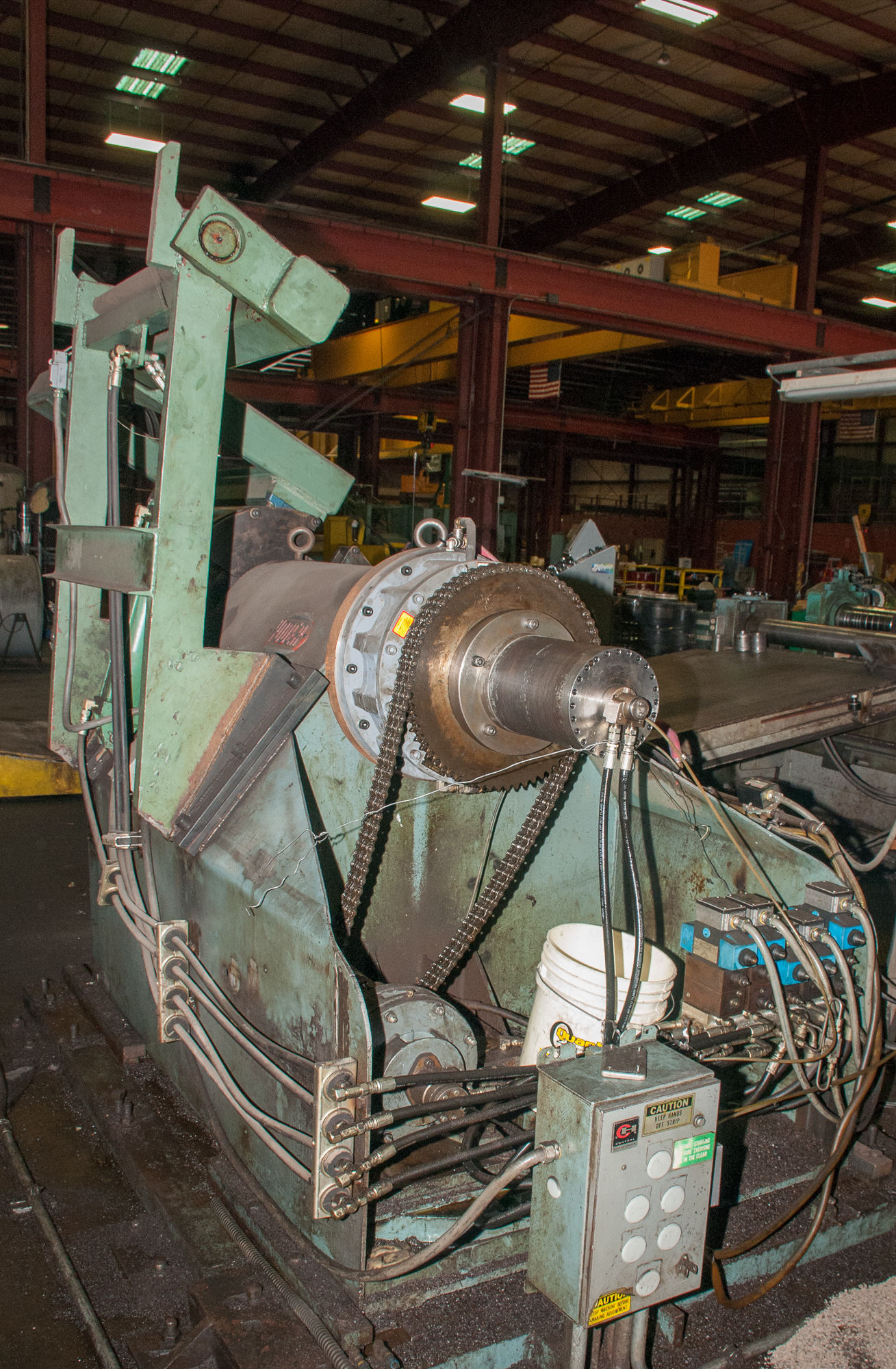"""60"""" x .125"""" 40,000lb. Yoder Slitting Line, New Controls 2019, Consisting of Coil Cart, Yoder Uncoile - Image 17 of 27"""