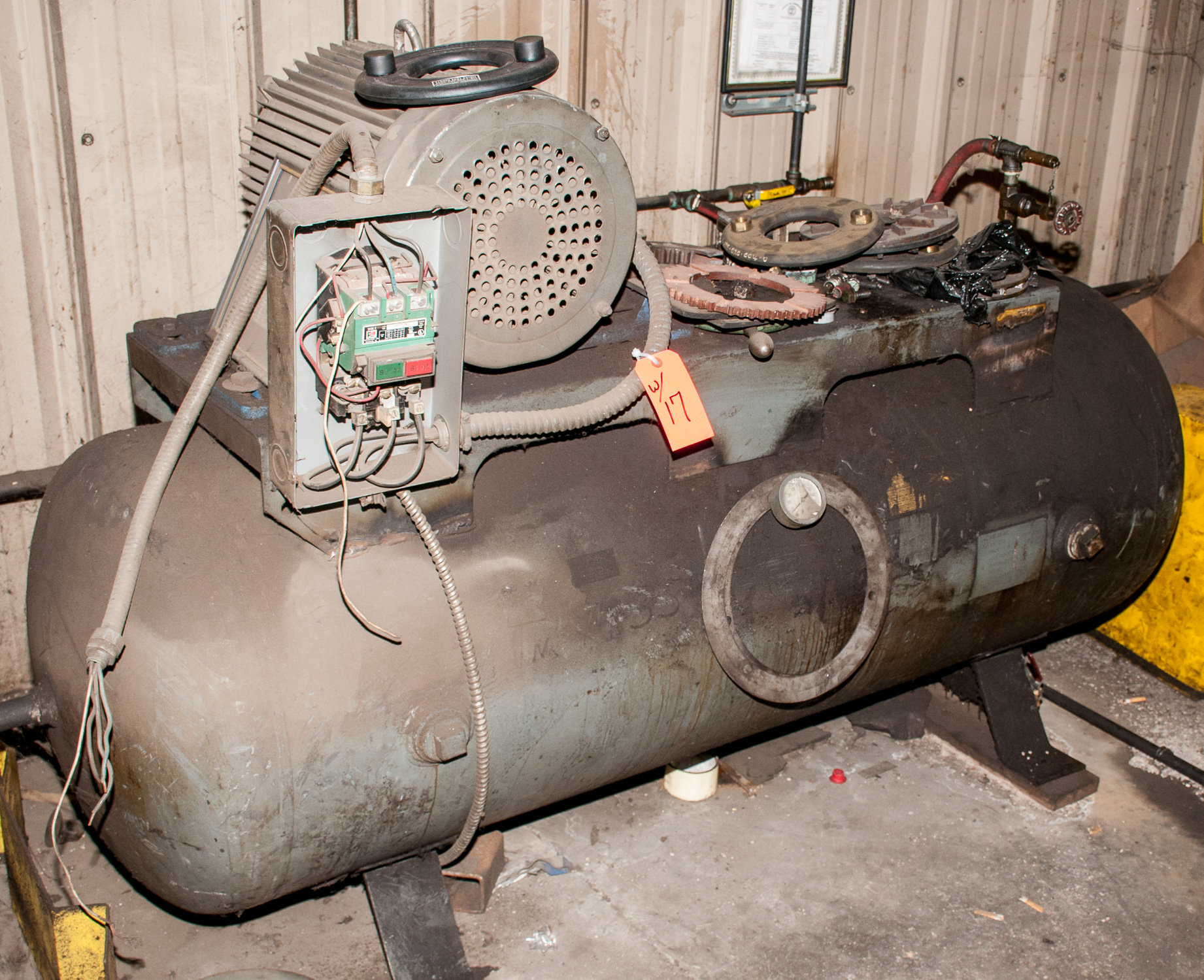Pacemaker Air Compressor Mdl HT62B, s/n 3815, 220v, 20 hp, Estimate 80 Gal. Horizontal Tank, w/ - Image 3 of 3