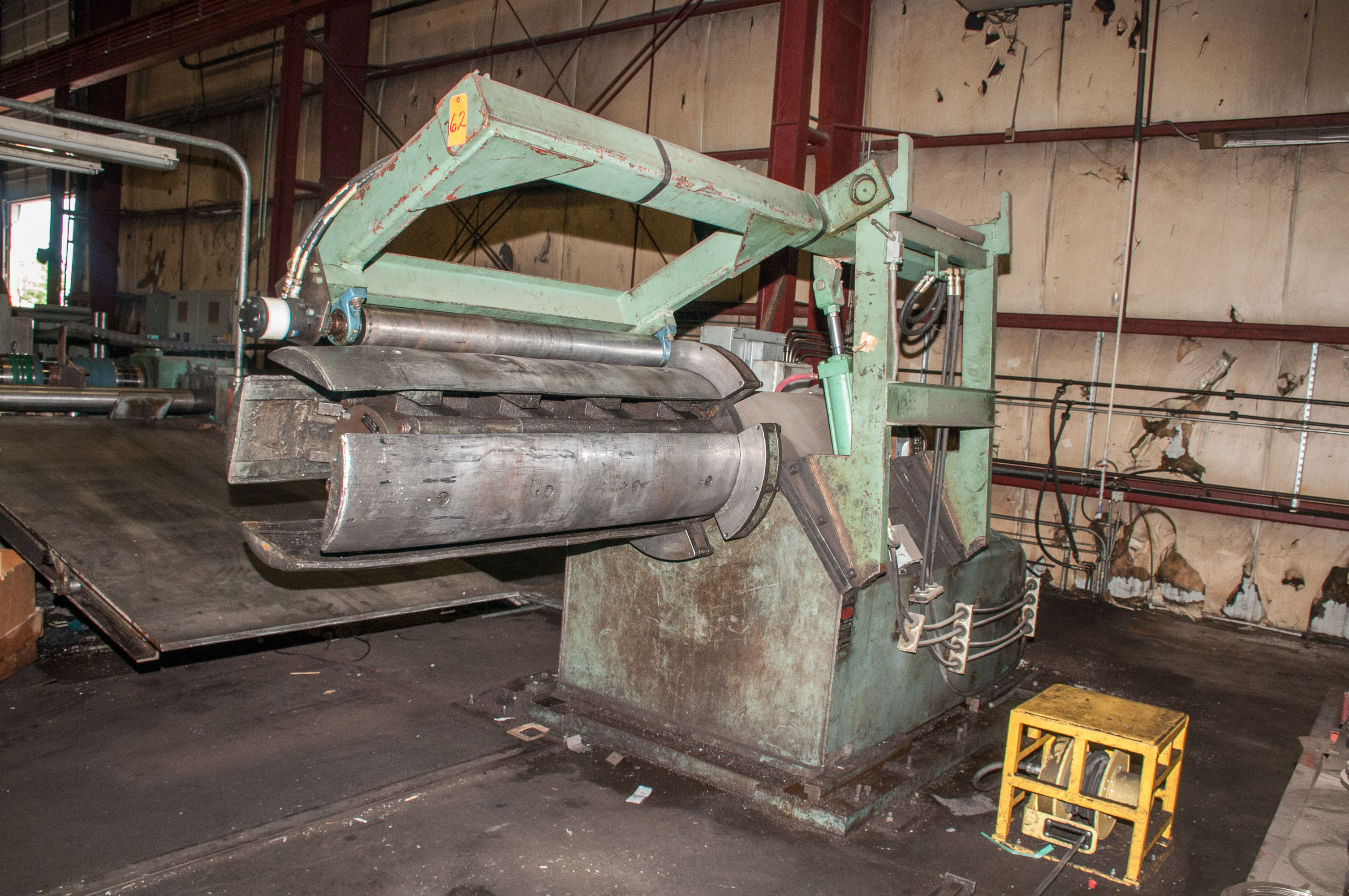 """60"""" x .125"""" 40,000lb. Yoder Slitting Line, New Controls 2019, Consisting of Coil Cart, Yoder Uncoile - Image 2 of 27"""