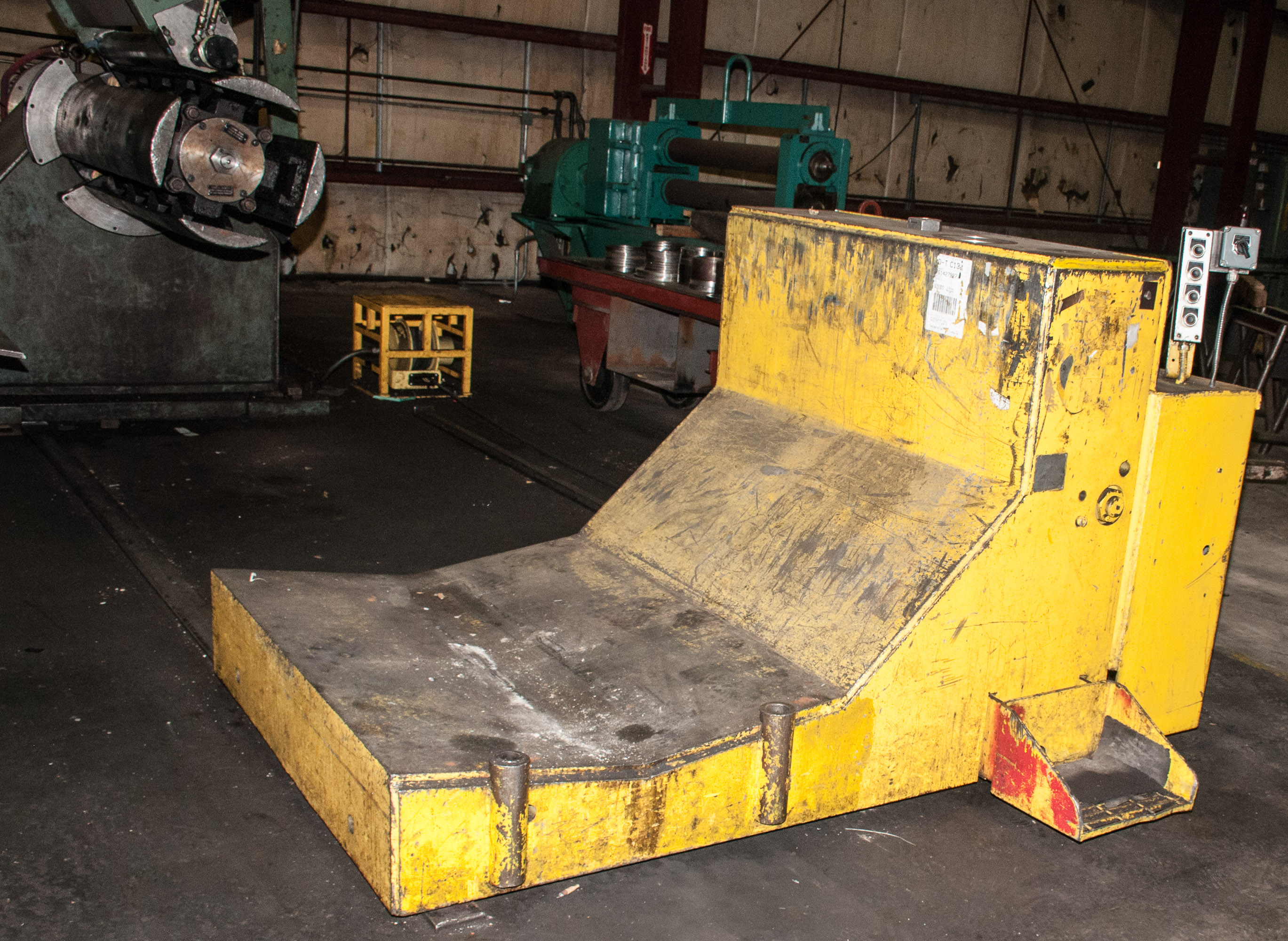 """60"""" x .125"""" 40,000lb. Yoder Slitting Line, New Controls 2019, Consisting of Coil Cart, Yoder Uncoile"""