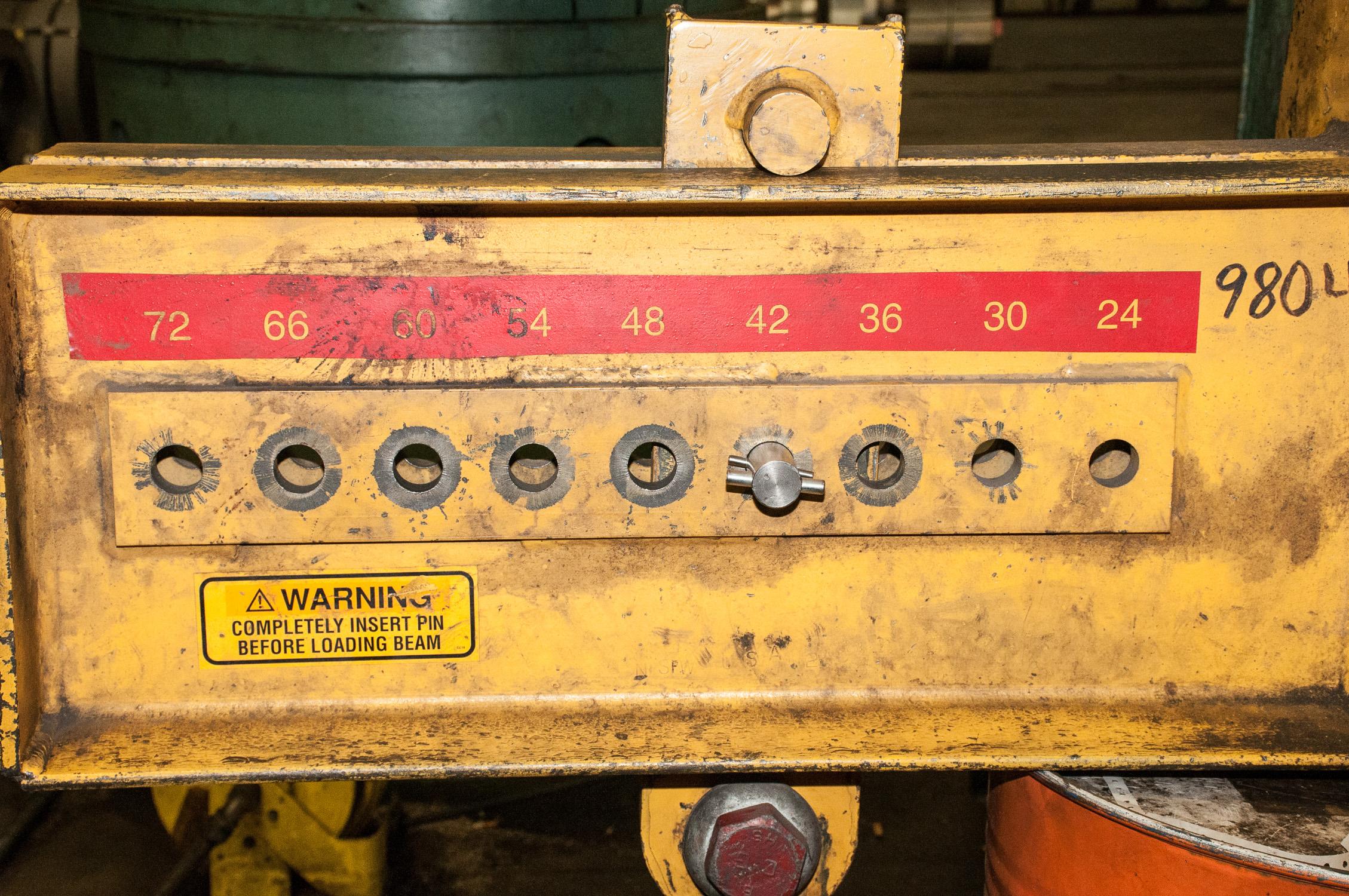 "Caldwell Co 30 Ton Spreader Bar adjustable 24""-72"" For Crane - Image 2 of 4"