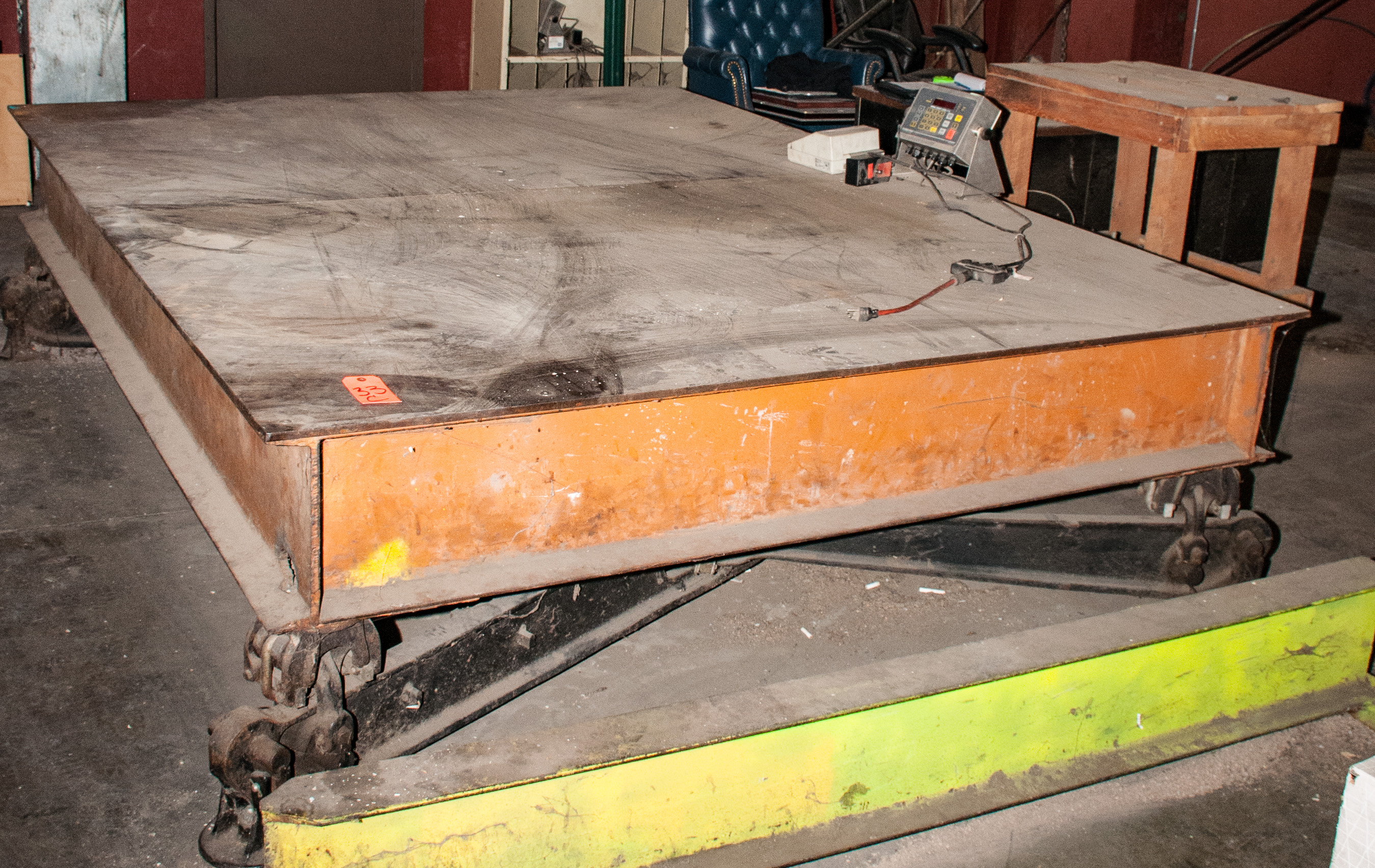 "Scale Table 82 1/2"" X 107 1/2"" w/ Fairbanks Readout and Epson Printer, 10,000 lb. Cap."