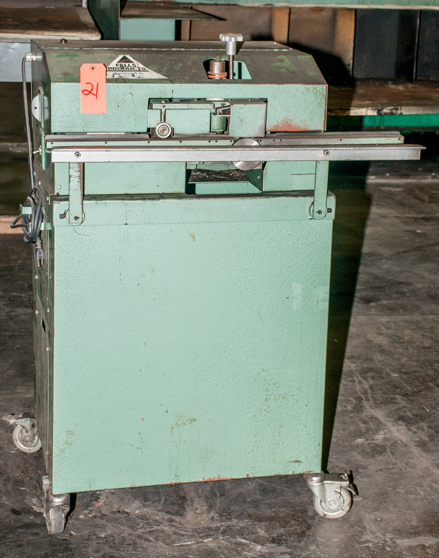 Falls Products D-BUR-R Mdl 111, s/n 2662, 110v Deburring Machine.