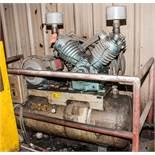 Pacemaker Air Compressor Mdl HT62B, s/n 3815, 220v, 20 hp, Estimate 80 Gal. Horizontal Tank, w/
