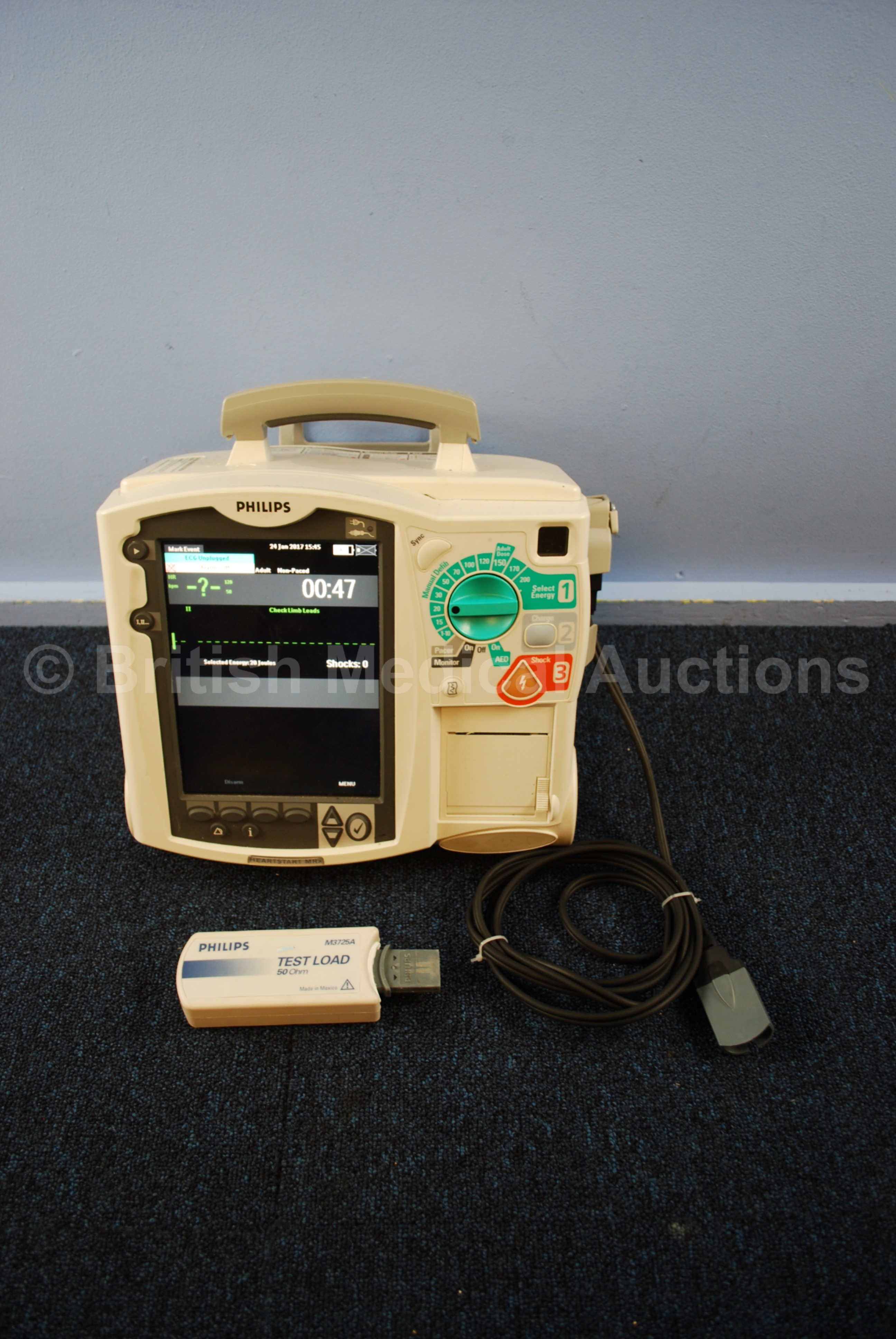 Philips Heartstart MRx Defibrillator with Pacer, ECG and
