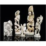 Five Japanese figures.
