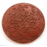 Chinese lacquer jar and cover.
