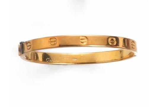 negozio online 6355b d2dd2 BRACCIALE, 'LOVE', CARTIER, IN ORO GIALLOa cerchio rigido ...