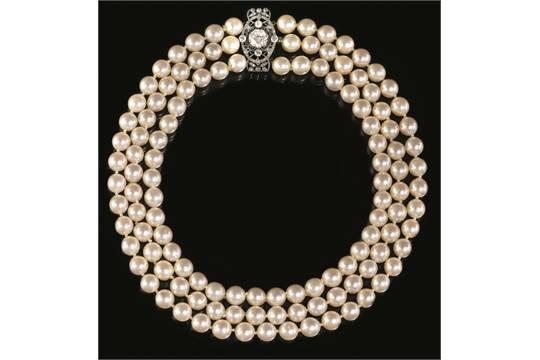 collier perle e oro