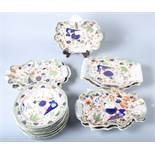 A quantity of Masons Ironstone plates and dishes