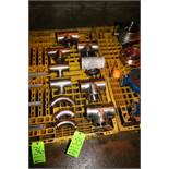 "Lot of Assorted S/S Fittings, Includes (5) 4"" Clamp Type T's, (3) 3"" Clamp Type T's, & (3) 2"" S/S"